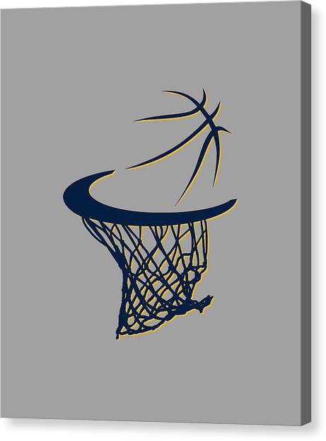 Indiana Pacers Canvas Print - Pacers Basketball Hoop by Joe Hamilton