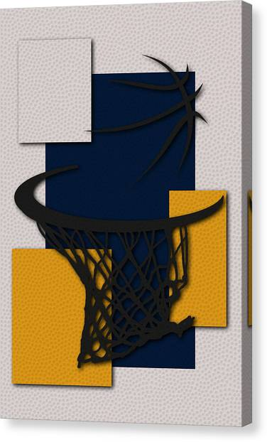 Indiana Pacers Canvas Print - Pacers Hoop by Joe Hamilton