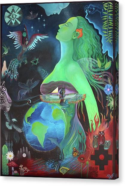 Pachamama Canvas Print by Sarah Grubb