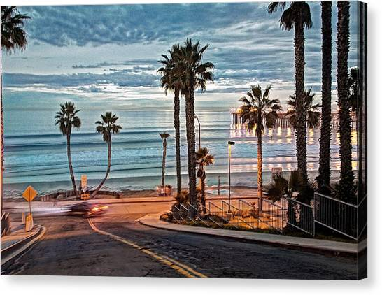 Canvas Print - Pacific And 1st Street by Ann Patterson
