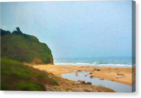 Canvas Print - Pacific Beach by Impressionist Art