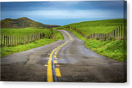 Pacific Coast Road To Tomales Bay Canvas Print