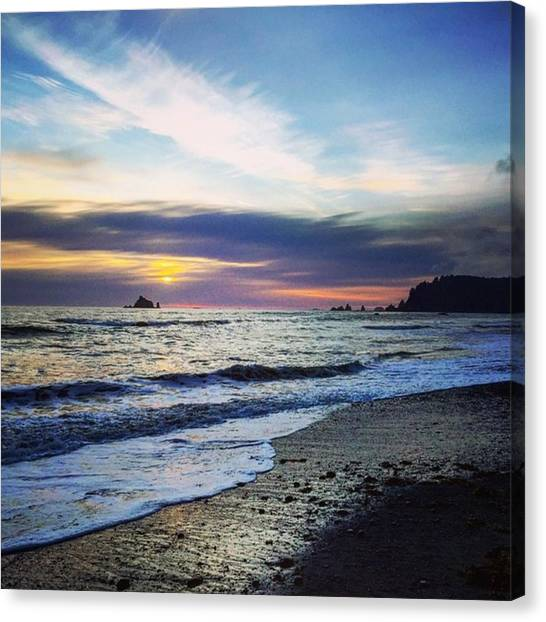Washington Canvas Print - Pacific Coast Sunset #washington by Joan McCool