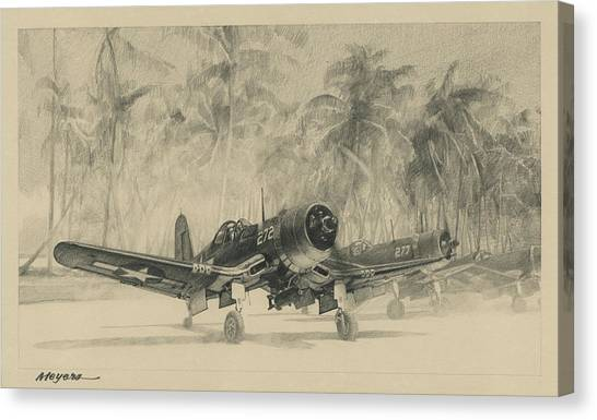 Aviators Canvas Print - Pacific Corsairs by Wade Meyers