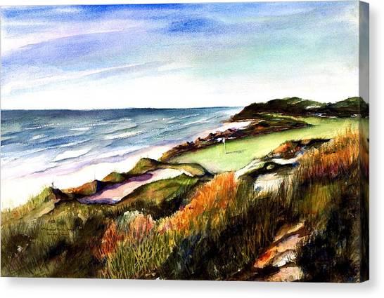 Pacific Dunes Golf Course Canvas Print