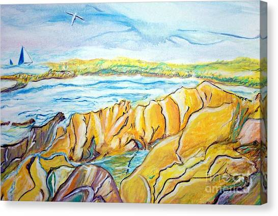 Pacific Grove Rocky Beach Canvas Print