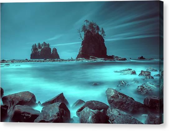 Pacific Moody Sea Stacks Canvas Print