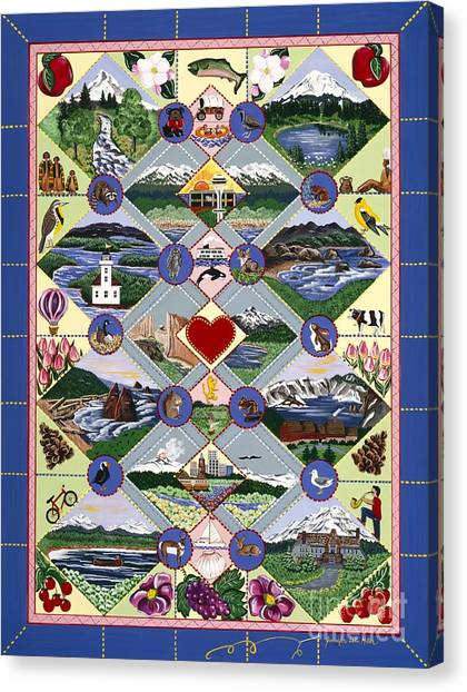 Pacific Northwest Quilt Canvas Print