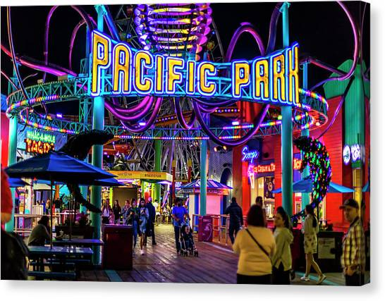 Pacific Park - On The Pier Canvas Print