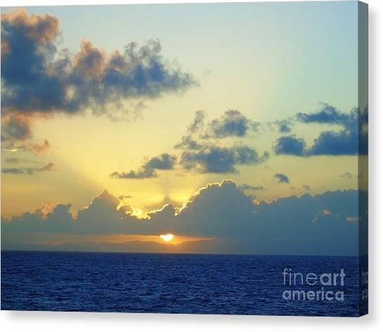 Pacific Sunrise, Japan Canvas Print