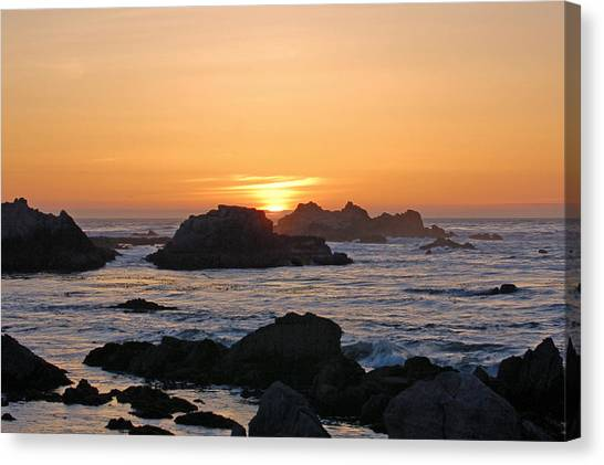 Pacific Sunset Canvas Print by Pearson Photography