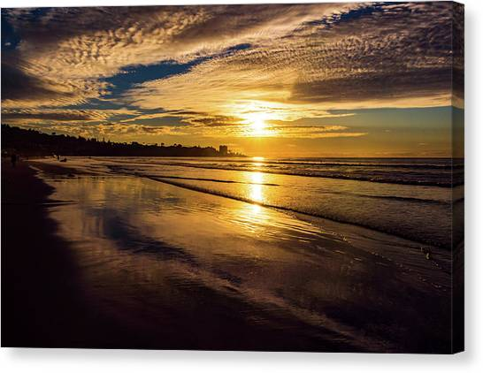 Canvas Print featuring the photograph Pacific Sunset by Robert McKay Jones