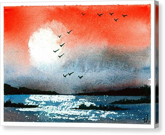 Pacific Sunset V Canvas Print