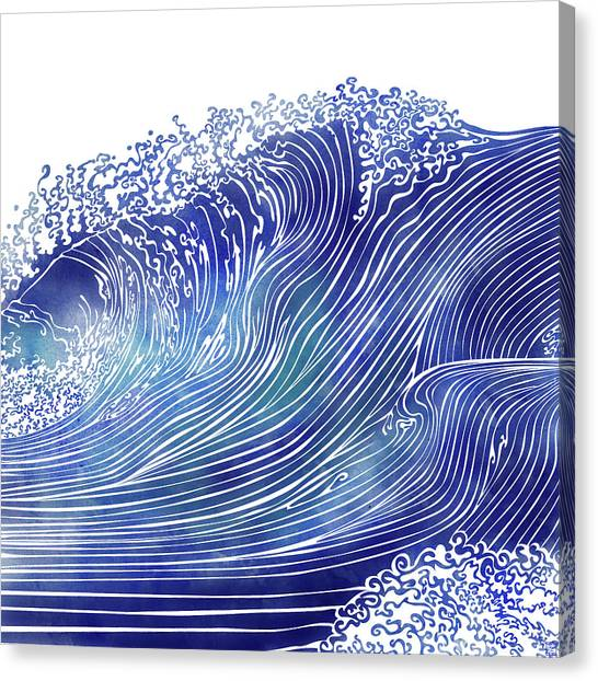 Waving Canvas Print - Pacific Waves by Stevyn Llewellyn
