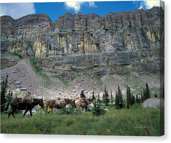 Mountain West Canvas Print - Pack Team 2 by Leland D Howard