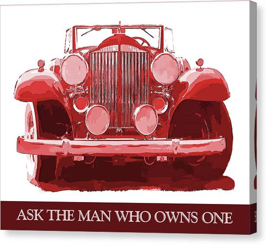 Packard Ask The Man Red Canvas Print