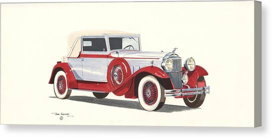 Packard Coupe Roadster 1932 Canvas Print by John Kinsley