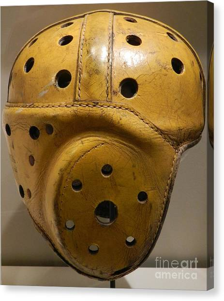 Reggie White Canvas Print - Packers Leather Helmet by Snapshot Studio
