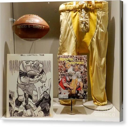Reggie White Canvas Print - Packers Vs. Giants Display by Snapshot Studio