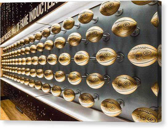Packers Wall Of Fame Canvas Print