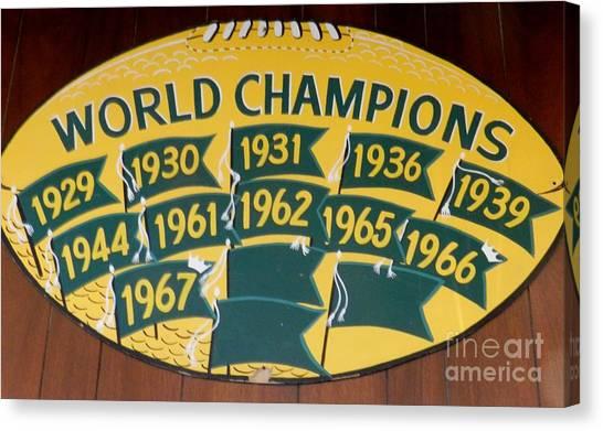 Reggie White Canvas Print - Packers World Champs by Snapshot Studio