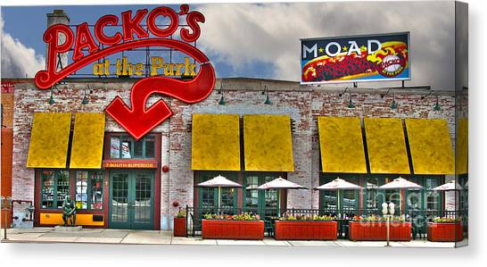 Hot Dogs Canvas Print - Packo's At The Park by Jack Schultz