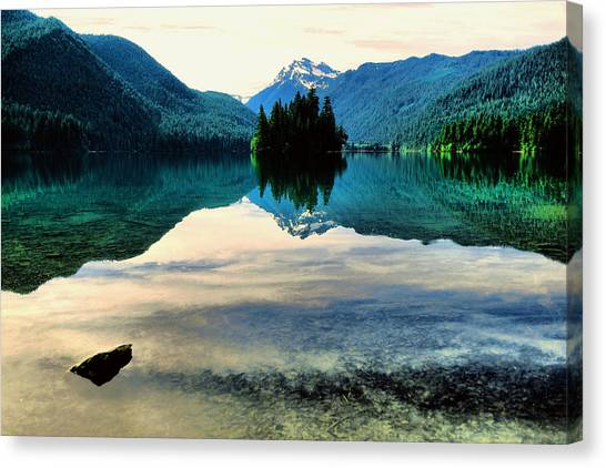 Snow Melt Canvas Print - Packwood Lake by Jeff Swan