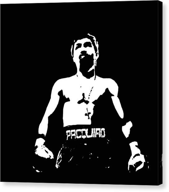 Manny Pacquiao Canvas Print - Pacquiao by Elvin Dantes