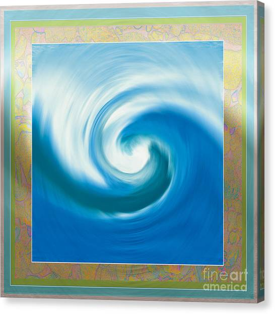 Pacswirl With Border Canvas Print