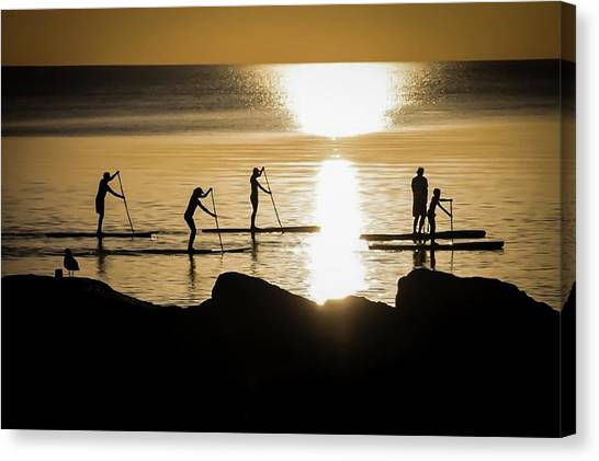 Paddle Gold Canvas Print
