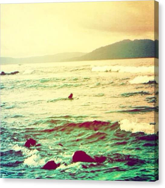 Ocean Life Canvas Print - Paddle Out by Nikki Johnson