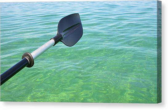 Paddling Grand Traverse Bay Canvas Print
