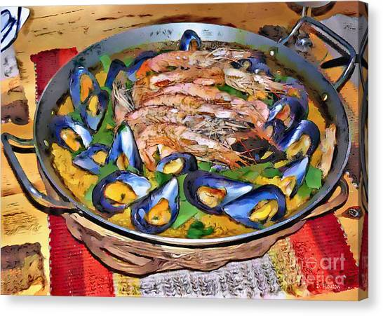 Canvas Print featuring the photograph Paella by Dee Flouton