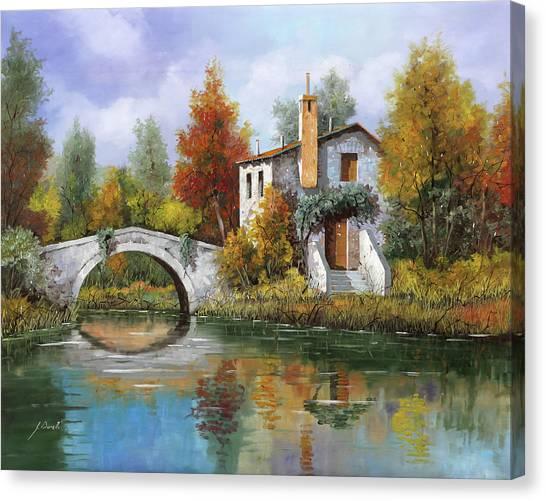 White House Canvas Print - Paesaggio Pastellato by Guido Borelli