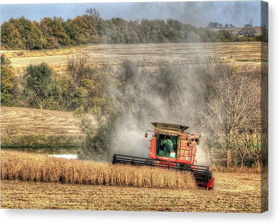 Page County Iowa Soybean Harvest Canvas Print
