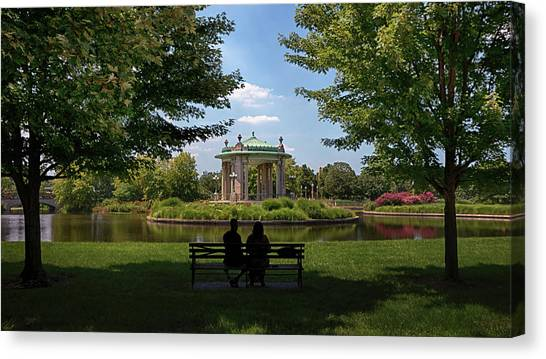 Canvas Print featuring the photograph Pagoda Circle Interlude by Susan Rissi Tregoning
