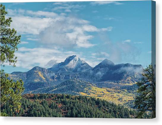 Canvas Print featuring the photograph Pagosa Peak Autumn 2014 by Jason Coward