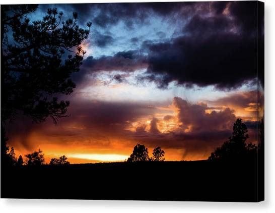 Canvas Print featuring the photograph Pagosa Sunset 11-20-2014 by Jason Coward