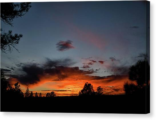 Canvas Print featuring the photograph Pagosa Sunset 11-30-2014 by Jason Coward