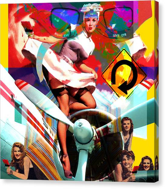 Paint Brush Girls Canvas Print by Robert Anderson