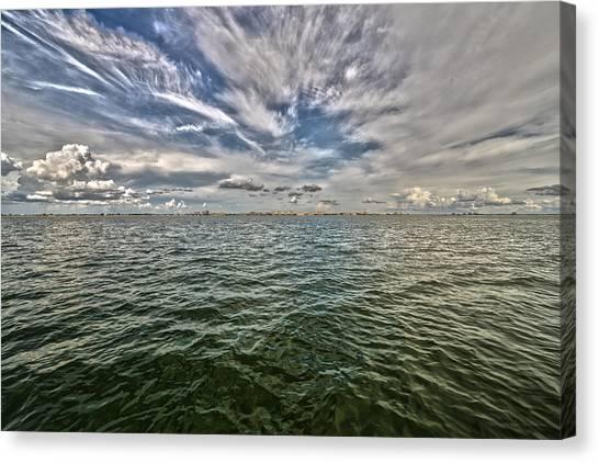 Paint Brush Sky - Ft Myers Beach Canvas Print