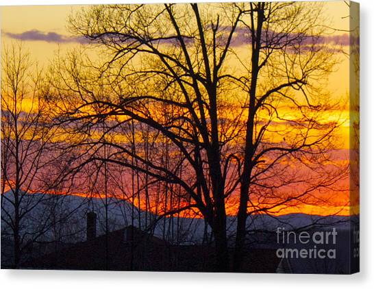 Paint Night Sunset Canvas Print