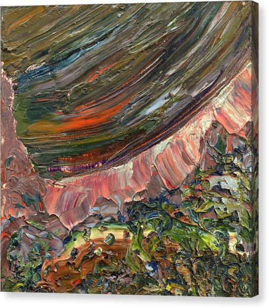 Abstract Expressionism Canvas Print - Paint Number 10 by James W Johnson