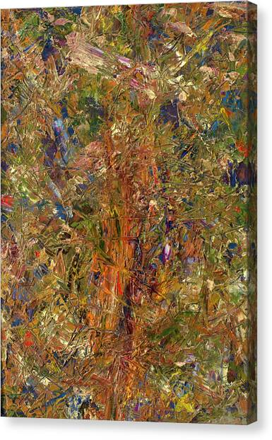 Abstract Expressionism Canvas Print - Paint Number 25 by James W Johnson