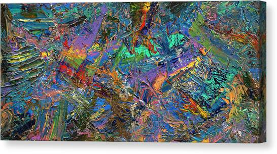 Non-objective Canvas Print - Paint Number 28 by James W Johnson