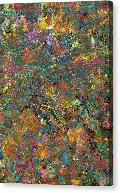 Abstract Expressionism Canvas Print - Paint Number 29 by James W Johnson