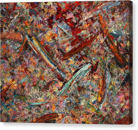 Abstract Expressionism Canvas Print - Paint Number 30 by James W Johnson