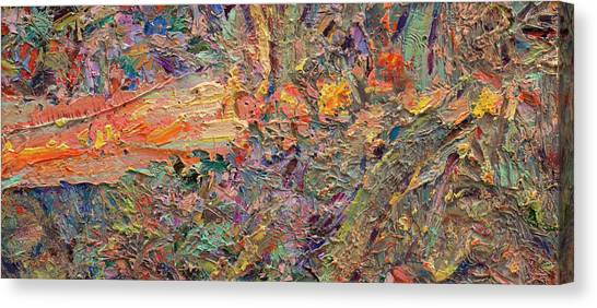 Abstract Expressionism Canvas Print - Paint Number 34 by James W Johnson