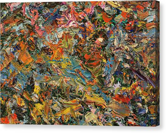 Abstract Expressionism Canvas Print - Paint Number 35 by James W Johnson