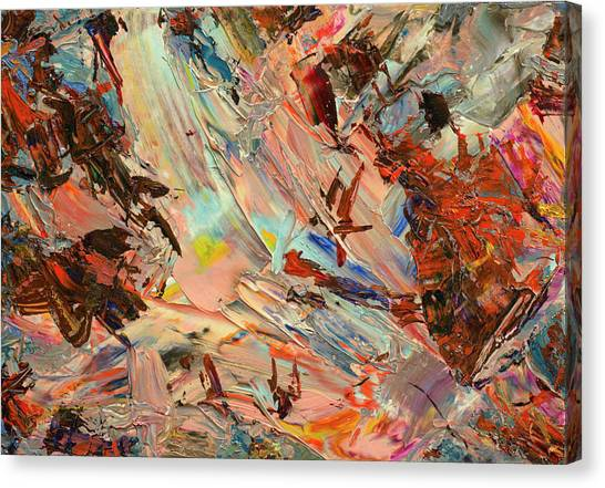 Expressionism Canvas Print - Paint Number 36 by James W Johnson